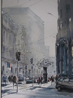 'Early Morning Stout Street' by Dianne Taylor (SOLD)