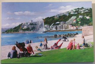 'Oriental Bay Beach' by Zad Jabbour (SOLD)