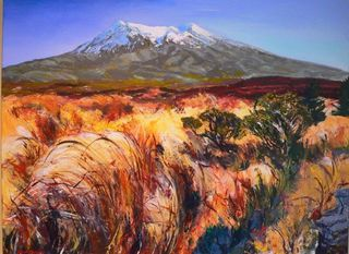 'Mt Ruapehu' commission by George Thompson (SOLD)