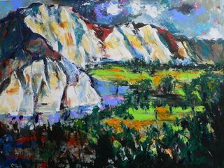 'Rangitikei Cliffs' by George Thompson