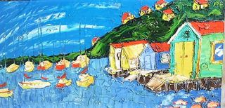 'Havana Boatshed Evan's Bay' by Vincent Duncan