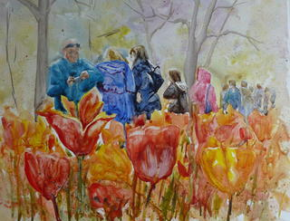 'Tip Toe through the Tulips' by Jan Thomson