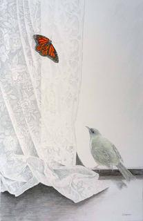 'Bellbird and Monarch' by Janet Marshall