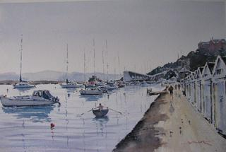 'Boat Harbour' by Dianne Taylor (SOLD)