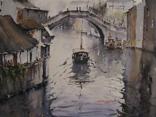 'Suzhou Waterway China' by Dianne Taylor (SOLD)
