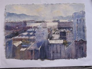 'Wellington Stadium' by Dianne Taylor (SOLD)