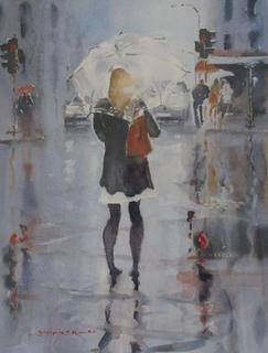 'Umbrella Day' by Dianne Taylor (SOLD)