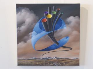 'Optic Pipeline' by Bruce Luxford (SOLD)