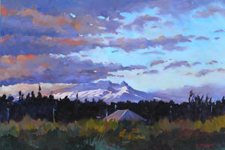 'Evening Shadows Ruapehu' by Phil Dickson