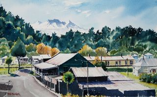 'Morning Light Ohakune Junction' by Phil Dickson
