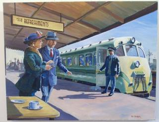 'All Aboard for Napier' by Phil Dickson (SOLD)
