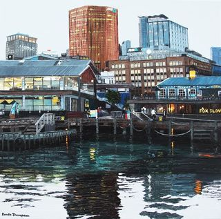 'Calm Night at Queen's Wharf' by Ronda Thompson (SOLD)