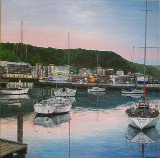 'The City from Port Nicholson' by Ronda Thompson (SOLD)