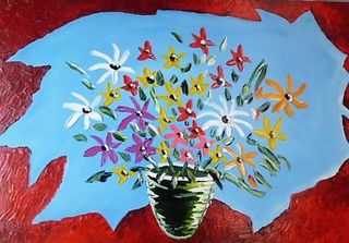 'Maple Leaf and Flowers' by Vincent Duncan