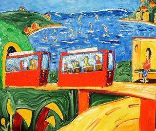 'Cable Car Rides to Kelburn' by Vincent Duncan (SOLD)