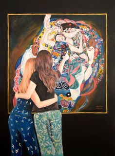 'Watching Klimt The Maiden' by Escha van den Bogerd