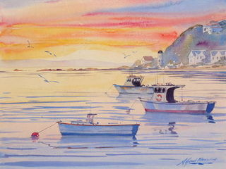 'Sunset Island Bay' by Alfred Memelink