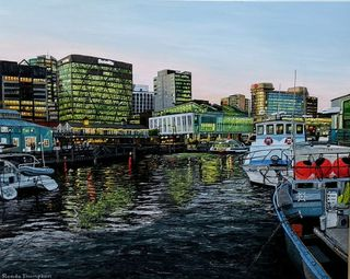 'Fishing Boats Queens Wharf' by Ronda Thompson (SOLD)