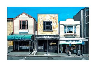 'Majoribanks St Shops' by Graham Young