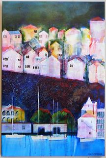 'Mt Vic Welington Houses Series No 9' by Rob McGregor (SOLD)