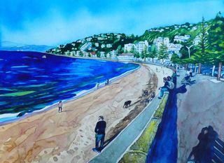 'Fun at Oriental Bay' by Joy de Geus