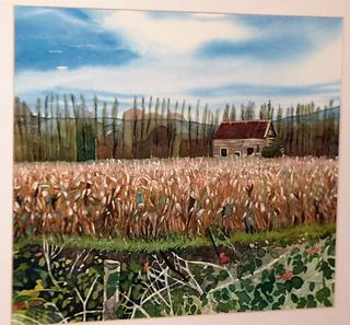 'Cornfield and old Farmhouse' by Joy de Geus (SOLD)