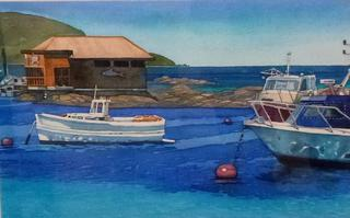 'Island Bay Boats' by Joy de Geus (SOLD)