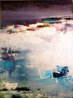 'Ice under the Midnight Sun' by Claudia Grutke (SOLD)