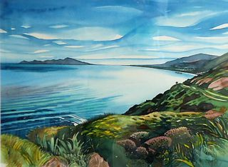 'The Escarpment Kapiti Coast' by Joy de Geus (SOLD)