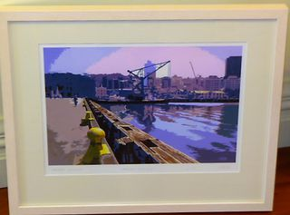 'Wellington Waterfront' Limited Edition Print by Simon Jay