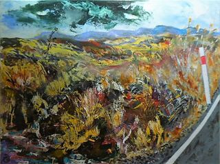 'Inland Kaimanawas Towards Waiouru' by George Thompson