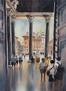 'The Pantheon Rome' by Ginette Wang