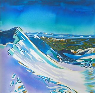 'The View from Mt Hutt' by Joy de Geus (SOLD)