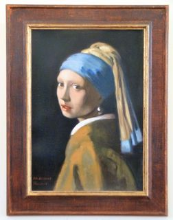 'After Vermeer The Girl with the Pearl Earring' by Tatyana Kulida