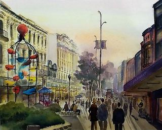 'Cuba Mall in Springtime' by Sam Qiao (SOLD)