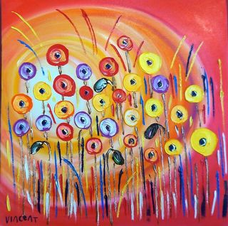 'Morning Sun Poppies' by Vincent Duncan