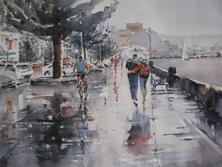 'Rainy Day no 1' by Dianne Taylor (SOLD)