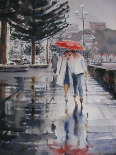 'Rainy Day No 2' by Dianne Taylor (SOLD)