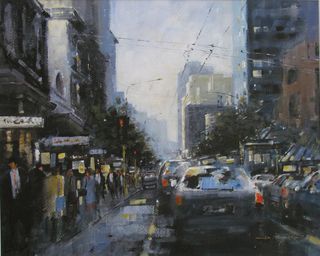 'Late Sun Willis St' by Dianne Taylor (SOLD)