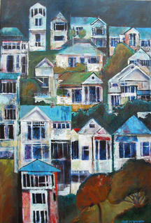 'Wellington Houses 3' by Rob McGregor (SOLD)