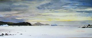 'QEII meets the Interislander' by Dianne Taylor (SOLD)