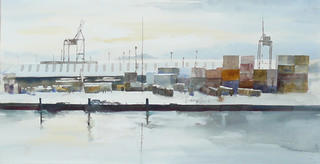'Wellington Wharf' by Jan Thomson (SOLD)