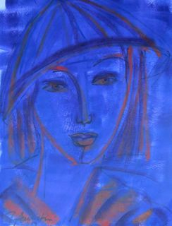 'Asian Girl in Blue' by Peter Augustin