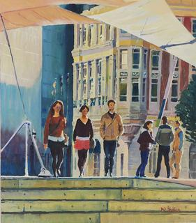 'Beneath the Sails Queens Wharf' by Phil Dickson