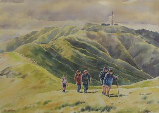 'Skyline Trampers' by Phil Dickson (SOLD)
