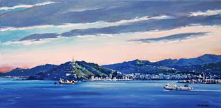 'Afternoon Light - Wellington Harbour' by Phil Dickson