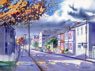 'Autumn in Aro Valley' by Alfred Memelink (SOLD)