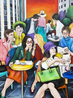 'Cafe Society' by Lauryne Hart (SOLD)