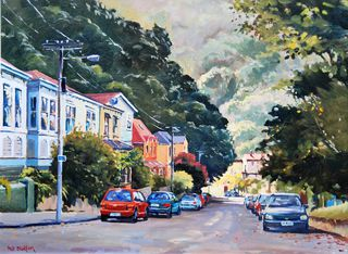 'Epuni St Aro Valley' by Phil Dickson (SOLD)