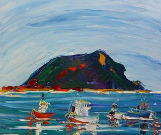 'Fishing Boats Island Bay' by Vincent Duncan